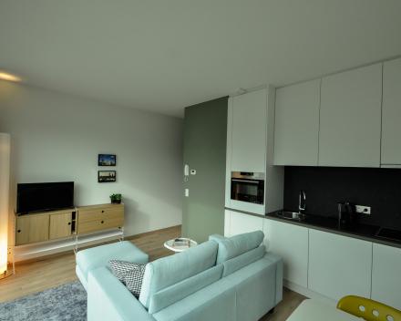 1 slaapkamer appartement leefruimte
